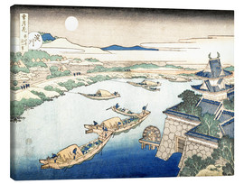Canvas print  Moonlight on the Yodo River - Katsushika Hokusai