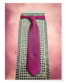 Poster Tie on a London Skyscraper