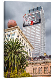 Canvas print  Basketball hoop on skyscraper - James Popsys
