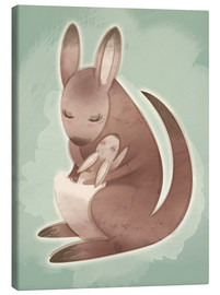 Canvas  Mamma and baby kangaroo - Ashley Verkamp