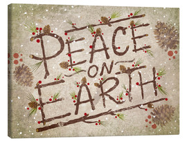 Canvas  Peace On Earth - Ashley Verkamp