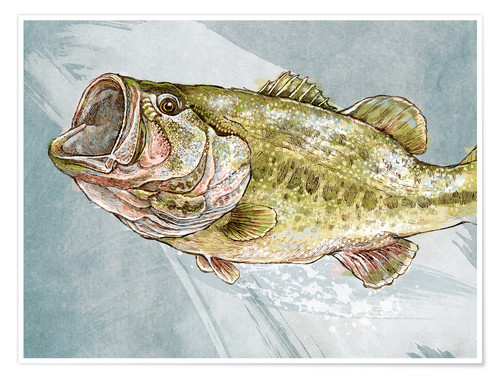 Premium poster Magnificent Largemouth Bass