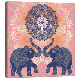 Canvas print  Elephant love