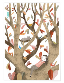 Premium poster  In the Tree No 2 - Judith Loske