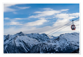 Premium poster  Ski Resorts in the winter - Mike Clegg Photography