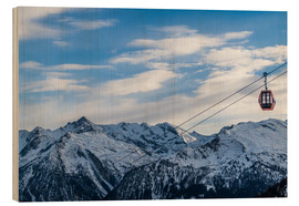 Wood print  Ski Resorts in the winter - Mike Clegg Photography