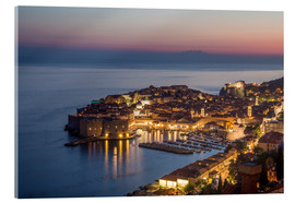 Acrylic print  Dubrovnik at Sunset - Mike Clegg Photography
