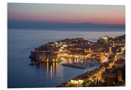 Foam board print  Dubrovnik at Sunset - Mike Clegg Photography