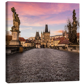 Canvas print  Charles Bridge, Prague at sunrise - Mike Clegg Photography