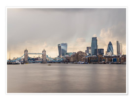 Premium poster City of London Skyline