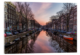 Acrylic glass  Amsterdam Canals at Sunrise - Mike Clegg Photography