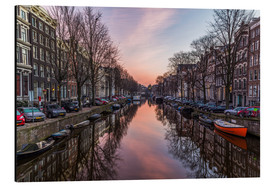 Aluminium print  Amsterdam Canals at Sunrise - Mike Clegg Photography