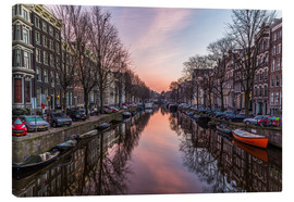 Canvas print  Amsterdam Canals at Sunrise - Mike Clegg Photography