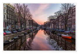 Premium poster Amsterdam Canals at Sunrise