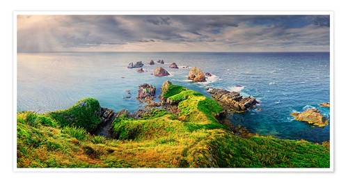 Premium poster New Zealand Nugget Point