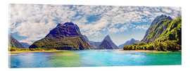 Acrylic print  Milford Sound Panorama New Zealand - Michael Rucker
