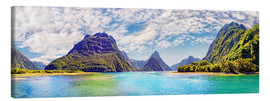 Canvas print  Milford Sound Panorama New Zealand - Michael Rucker
