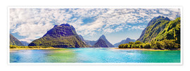 Premium poster  Milford Sound Panorama New Zealand - Michael Rucker