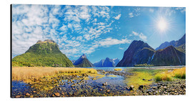 Aluminium print  Milford Sound New Zealand - Michael Rucker