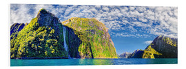 Michael Rucker - Milford Sound with Stirling Falls New Zealand