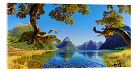 Acrylic print  Look in the Milford Sound New Zealand - Michael Rucker