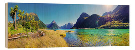 Michael Rucker - Milford Sound with palms New Zealand