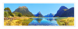 Premium poster  New Zealand Milford Sound Panorama - Michael Rucker