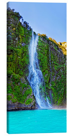 Canvas print  New Zealand Milford Sound Stirling Falls - Michael Rucker