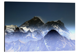 Aluminium print  Everest summit - Gerhard Albicker