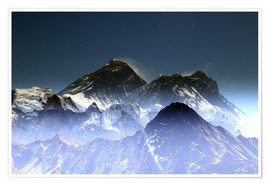 Premium poster  Everest summit - Gerhard Albicker