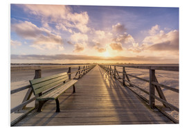 Foam board print  Beach path in St. Peter Ording North Sea - Dennis Stracke