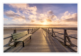 Premium poster  Beach path in St. Peter Ording North Sea - Dennis Stracke