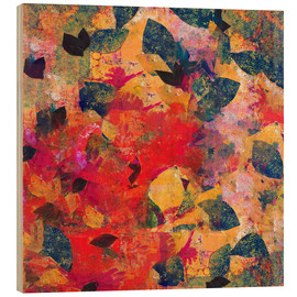 Wood print  Falling Leaves - David McConochie