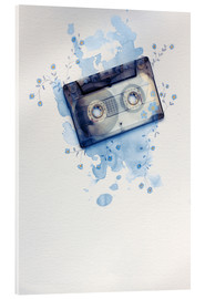 Acrylic print  Music tape with flowers and watercolour wash - Sybille Sterk