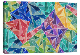 Canvas  Geometric Rainbow - Angelika Parker