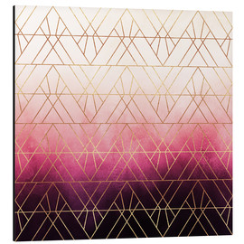 Aluminium print  Pink Ombre Triangles - Elisabeth Fredriksson