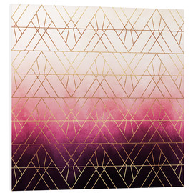 Forex  Pink Ombre Triangles - Elisabeth Fredriksson