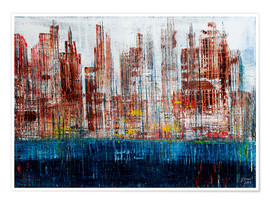 Premium poster New York Skyline, abstract