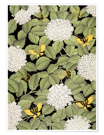 Premium poster  Japanese floral design - French School