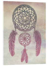 Acrylic print  Dream Catcher Rose - Rachel Caldwell
