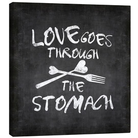 Canvas  Love goes through the stomach - Andrea Haase