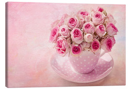 Canvas  Roses in a cup - Elena Schweitzer