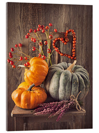 Acrylic print  Still life with the pumpkins - Elena Schweitzer
