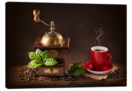 Canvas print  Coffee mill with a cup of coffee - Elena Schweitzer