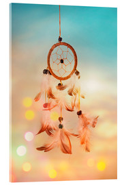 Acrylic glass  Dream catcher and abstract bokeh background - Elena Schweitzer