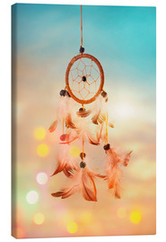 Canvas  Dream catcher and abstract bokeh background - Elena Schweitzer