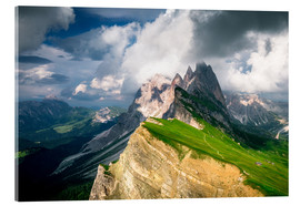 Acrylic print  Seceda - South Tyrol - Mountain panorama - Sebastian Jakob