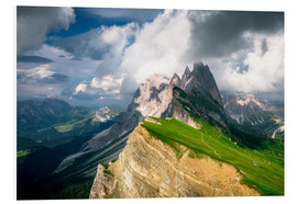 Foam board print  Seceda - South Tyrol - Mountain panorama - Sebastian Jakob