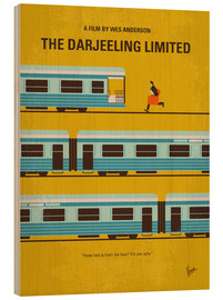 Wood print  The Darjeeling Limited - chungkong