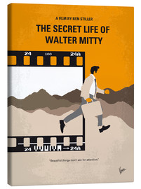 Canvas  No806 My The Secret Life of Walter Mitty minimal movie poster - chungkong
